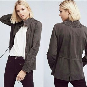 Anthropologie Love Sam Travis Cargo Jacket Small